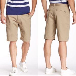 Volcom Mens WMONTY Shorts Khaki Size 30 Logo